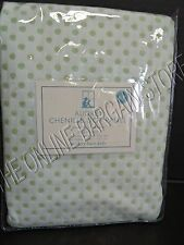 Pottery Barn Kids Audrey Chenille Dot Curtains Panels Drapes 44x63 Green