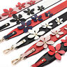 Genuine Leather Replacement Cross Body Shoulder Bag Strap Flower Handbag Strap