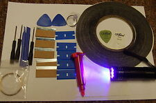 5ml Loca Pegamento, 9 LED Antorcha UV, Herramientas de Apertura Teléfono Móvil