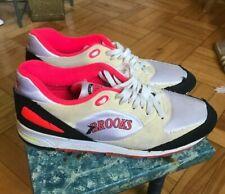 Brooks Rage Sneakers Vintage 1980s Hydroflow US M 10.5 Pink Ivory Suede