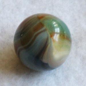 "Vitro Agate Marble Multi-Color Special Transparent Windows Marbles .62"" MINT-"