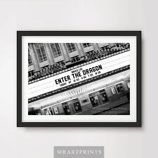 BRUCE LEE ENTER THE DRAGON Art Print Poster Cinema Sign Marquee Movie Film