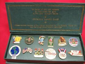 VINTAGE 1996 OLYMPICS COMMEMORATIVE COLLECTORS 12 PIN SET