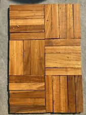 TEAK PARQUET WOOD FLOORING: 50 Fingers!