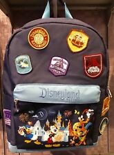 Disneyland Resort Mickey & Friends Attractions Embroidered Patches Blue Backpack