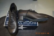 Black leather Roch Valley Audrey ballroom/latin dance shoes -size 8