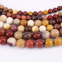 """15"""" Natural Mookaite Gemstone Round Loose Spacer Beads Finding 4/6/8/10mm DIY"""