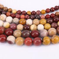 "15""Strand Natural Mookaite Gemstone Spacer Loose Round Beads Craft 4/6/8/10mm"