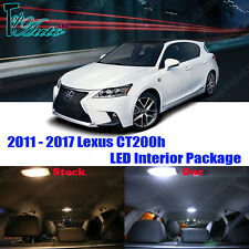 8pcs Xenon White LED Lights Interior Package Kit for 2011 - 2017 Lexus CT200h