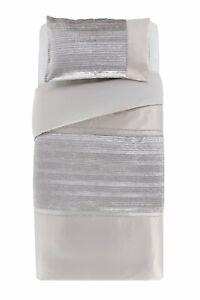Argos Home Sparkle Silver Velvet Bedding Set - Single - Small Defect - Reduced