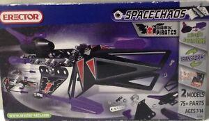 Erector Meccano 2010 #80 4100BE Dark Pirates 2 Models 75 Parts Space Chaos