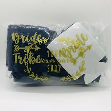 12 Navy Bride Tribe Bachelorette Party Drink Beer Can Cooler Wedding Bridesmaids