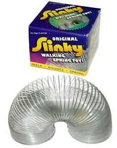 """Original OEM Genuine Slinky Poof Walking Spring Toy Steel Metal #100 2-5/8"""" Wide"""