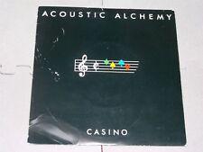 "Acoustic Alchemy:  Casino   UK  1983  Moonstone 7""   NM  (Black sleeve)"
