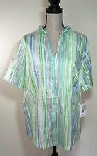 Women's Alia 16 W NWT An Apple a Day Paintdstp Button Up Shirt Free Shipping