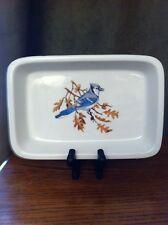 """Limoges France Aluminite Frugier Birds Dish White Porcelain 5 3/4"""" x 8 1/2"""""""
