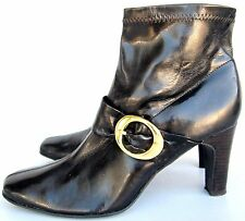 """Nickels Soft """"Baily"""" Dark Brown Ankle Boots High Heel Size 9 M"""