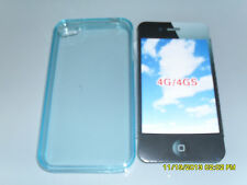 IPHONE 4G 4GS COVER CUSTODIA PROTETTIVA SILICONE MORBIDA CELESTE ART.3