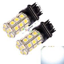 2X T25 3157 3156 27 SMD 5050 LED Tail Brake Stop Turn Signal Light White NE