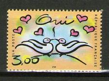TIMBRE 3229 NEUF XX LUXE - COUPLE DE TOURTERELLES - COEURS - OUI
