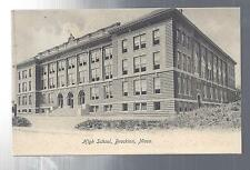 High School Brockton,Massachusetts Postcard Black And White 1908 Circa Ex Cond!