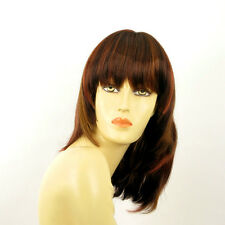 mid length wig women brown copper wick light blond and red : BABETTE 33h PERUK