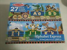NEW MELISSA AND DOUG 27 PIECE ALPHABET EXPRESS PUZZLE 4420