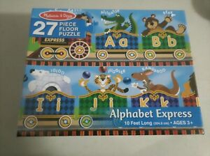 NEW MELISSA AND DOUG 27 PIECE ALPHABET EXPRESS PUZZLE 4420