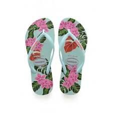 cc99564f9f9984 Ladies Girls Havaianas Slim Floral Flat Flip Flop Coral