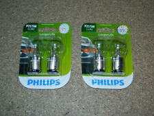 (2) NEW PACKS OF 2 PHILIPS LONGER LIFE P21/5W TAIL LIGHT BULB P21/5WLLB2 PARKING