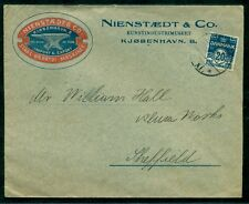 DENMARK 1925, Advertising cover in color w/20ore tied, ScandY ad covers uncommon