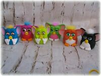 Furby McDonalds Happy Meal Plastic 6 Furbies Movable EUC 90s toy action figures