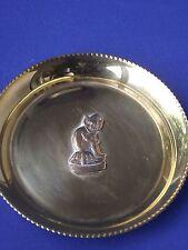 Shiny Small Round Pixie Imp on Mushroom Brass Pin Dish Tray Cornwall Lincoln ?