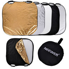 "Neewer Portable Square 43"" Photography Reflector 5-in-1 Circular Collapsible"
