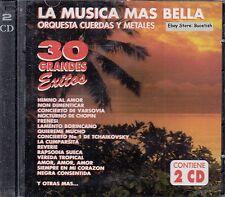 La Musica Mas Bella Orquesta Cuerdas Y Metales 30 Exitos 2CD New Nuevo