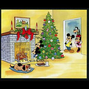 CAICOS ISLANDS 1983 Christmas. Disney. SG MS 39.  Mint Never Hinged. (AX398)