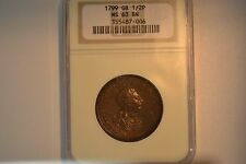 Great Britain: 1799 Half Penny- NGC MS-63 BN.  Awesome coin.