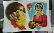 CARTOLINA CP ROMA  CALCIO FOOTBALL SEXY PIN UP  ORIGINALE ANNI 60