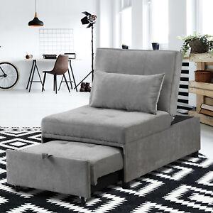 Folding Ottoman Sofa Bed Convertible Chair 4 in 1 Multi-Function Sleeper Sofa