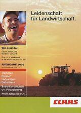 Claas Frühkauf 2005 Traktoren Pressen u.a. Prospekt Broschüre Landmaschinen