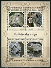 GUINEA 2017 SNOW LEOPARD SHEET MINT NH