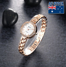 New Charming Women's Gold Plated Wrist Watch With Sparkling Crystal