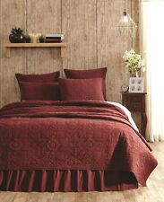 CHEYENNE AMERICAN RED Queen Quilt Feathered Star Cross Urban Rustic 90x90