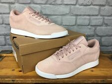 REEBOK LADIES UK 7 EU 40.5 PALE PINK PRINCESS SUEDE TRAINERS RRP £65