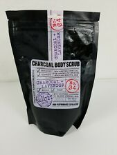 Premium Charcoal Body Scrub Collection 10 oz Lavender Scent New Unopened Bag