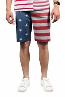 Brooklyn Surf Men's American Flag Jogger Casual Stars Stripes Knit Shorts S-4XL