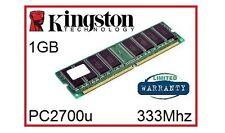 Kingston KVR333X64C25/1G 1GB 333Mhz DDR1 NON ECC Desktop Memory Ram 184 Pin 2.5V
