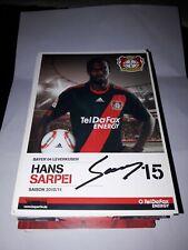 Signierte AK Hans Sarpei   Bayer Leverkusen  NEU