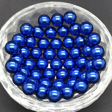 Hot 200pc 4/6/10mm No Hole Round Pearl Loose Acrylic Beads Craft Jewelry Finding