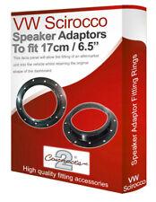 """VW Scirocco speaker adapter pods Front Door 17cm 6.5"""" fitting rings adaptors"""
